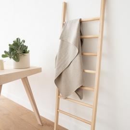 Set of 4 Natural Linen  Huckaback Bath Towels Lara