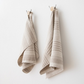 Natural Huckaback Linen Bath Towel Lara