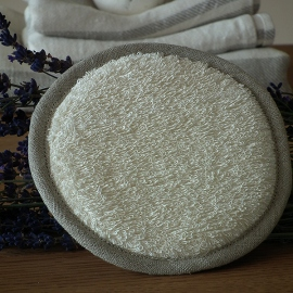 Cream Linen Body Pad Terry
