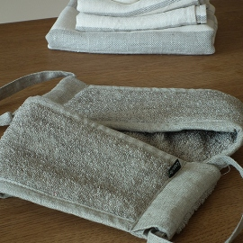 Back Scrubber Natural Linen Terry