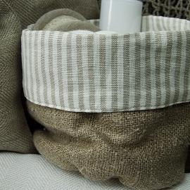 Beige Natural Linen Cotton Basket Jazz