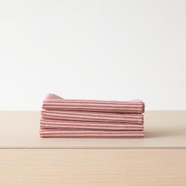 Red Striped Linen Cotton Basket Jazz