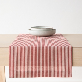 Red Linen Cotton Placemat Jazz
