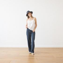 Indigo Linen Trousers Alma