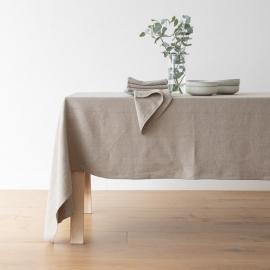 Natural Linen Tablecloth Lara