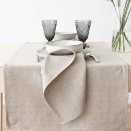 Linen Runner Natural Lara