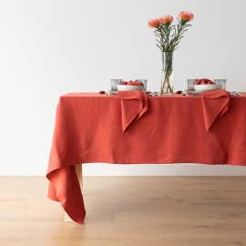 Linen Tablecloth Orange Lara