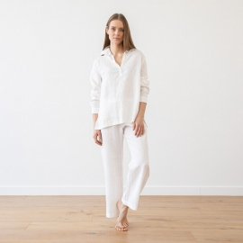 Steel Grey Linen Pyjama Alma