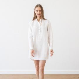 White Linen Night Shirt Alma