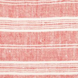 Fabric Red Multi Striped Linen