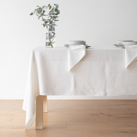 Tablecloth Off White Linen Lara