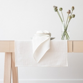 Linen Runner Off White Lara