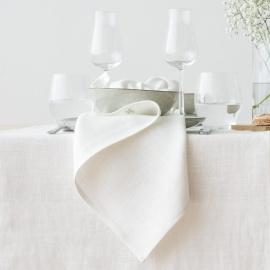 Napkin Off White Linen Lara