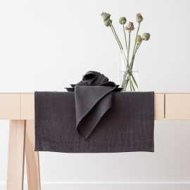 Linen Runner Grey Lara