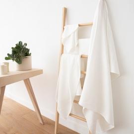 Cream Linen Bath Towels Set Lara