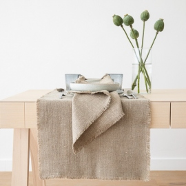 Runner Natural Linen Rustic