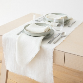 Runner  Off White Linen Rustic