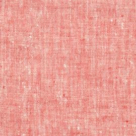 Fabric Prewashed Red Linen Francesca