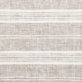 Fabric Birch Linen Multistripe Prewashed