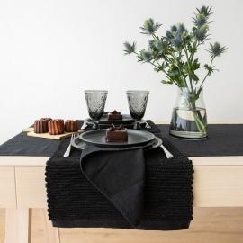 Linen Hand Woven Placemat Black Terra