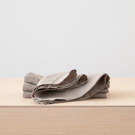 Stone Washed Taupe Linen Napkin