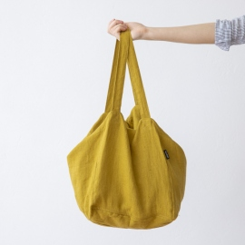 Citrine Linen Beach Bag Lara