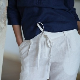 White Linen Trousers Daniela
