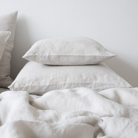 Silver Linen Pillow Case Stone Washed