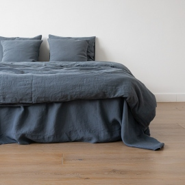 Blue Stone Washed Bed Linen Flat Sheet