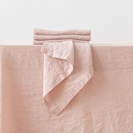 Stone Washed Rosa Linen Napkin