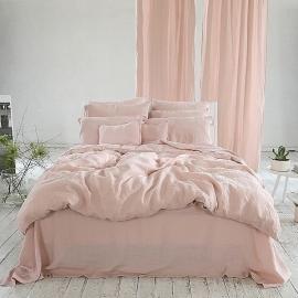 Linen Fabric Washed Rosa Stone Washed
