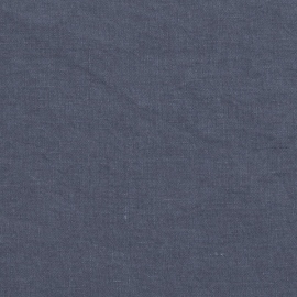 Blueberry Linen Fabric Stone Washed