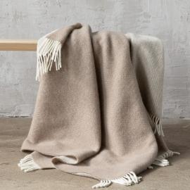 Taupe Wool Throw Roberto