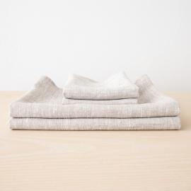 Birch Linen Bath Towels Set Francesca