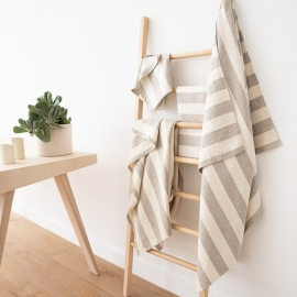 Linen Bath Towel Set Natural Cream Philippe