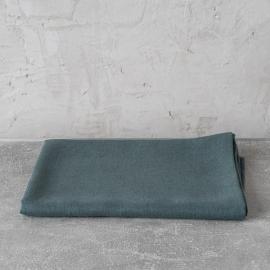 Balsam Green Huckaback Linen Bath Towel Lara