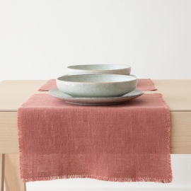 Linen Placemat Canyon Rose Rustic