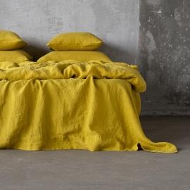 Citrine Washed Bed Linen Stone Washed  Flat Sheet