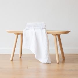 Linen Waffle Bath Towel White