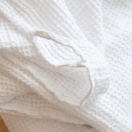 Linen Waffle Wash Cloths White
