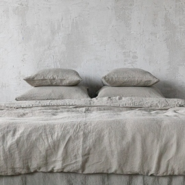 Taupe Stone Washed Bed Linen Bed Set