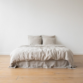 Natural Linen Bed Set Stone Washed