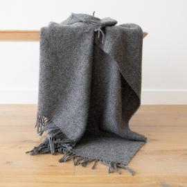 Grey Pure New Wool Throw Paula