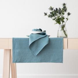 Linen Runner Stone Blue  Lara