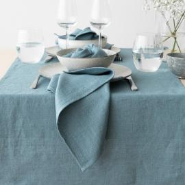 Linen Napkin Stone Blue Lara