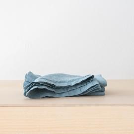Stone Washed Stone  Blue Linen Napkin