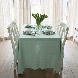 Mint Linen Tablecloth Terra