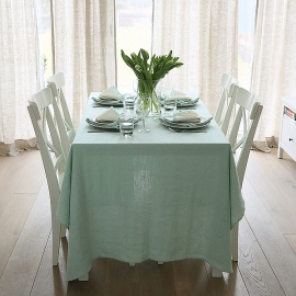 Mint Linen Tablecloth Terra