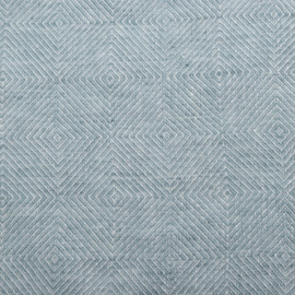 Stone Blue Linen Fabric Stone Washed Rhomb