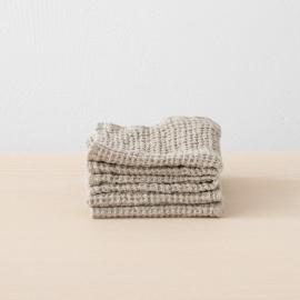 Linen Waffle Wash Cloths Set Natural
